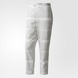 Adidas Icon UN WV Striped White/Grey Pant Men Sz M